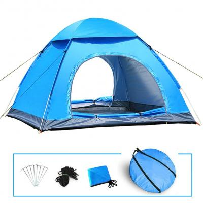 LIVEHITOP Tenda Campeggio Pop Up 3-4 Posti  Tendas Anti UV Automatica Portatile