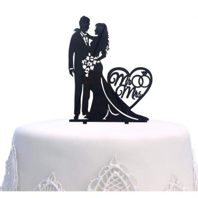 Mr And Mrs Cake Topper Torta Nuziale